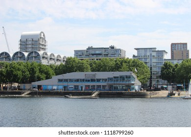 Surrey Quays Watersports Centre, Greenland Quay Dock, London Docklands. Tavern Quay and Baltic Quay In The Background.