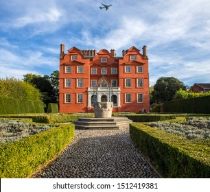 Surrey, UK - September 14th 2019: A view of the Dutch House - one of the few surviving buildings of Kew Palace - located in the grounds of the Kew Royal Botanic Gardens in Richmond, Surrey.
