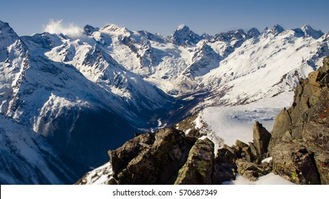 surround mountain landscape with great mountains