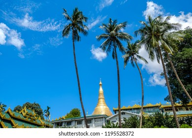 The surrounding conditions of the Shwedagon Pagoda, Shwedagon Zedi Daw. Yangon, Myanmar