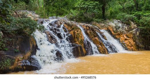 surroundings and landmarks of Yang Bay waterfall in Vietnam