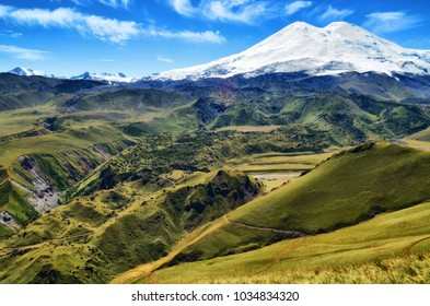 Surroundins of the mountain Elbrus