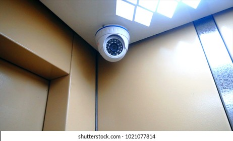 surveillance camera installed in the Elevator.