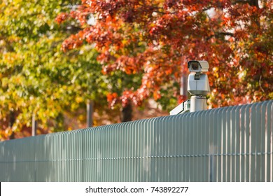 Surveillance camera with motion sensor. Perimeter security