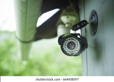 surveillance camera on a house