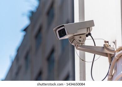 Surveillance camera of urban city