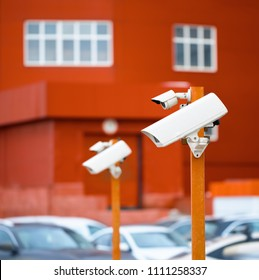 Surveillance cameras in the Parking lot.