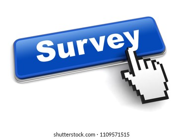 survey concept 3d illustration isolated on white background