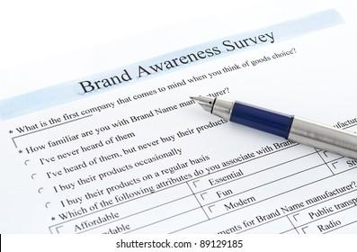 """survey form """"brand awareness survey"""""""