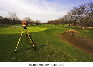 Surveying golf course