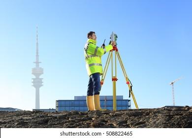 A Surveyor in Munich on hill