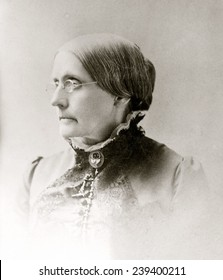 Susan B. Anthony (1820-1906), American women's rights pioneer in 1870s.