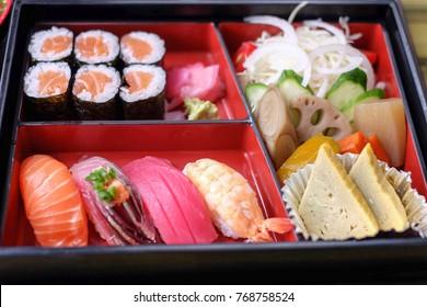 Sushi bento japanese food