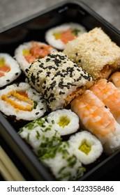 Sushi box diet, fresh