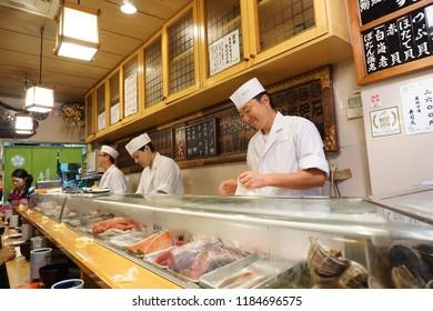 Sushi Dai at Tsukiji market in Japan, October 2015