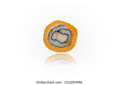 Sushi Egg Roll. Clipping Path