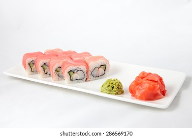 sushi food japan photo on a white bg