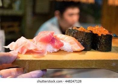 sushi  fresh and delicious in Japan