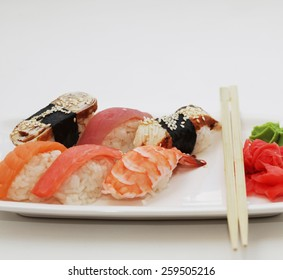 sushi. good japanese food. , studio shot