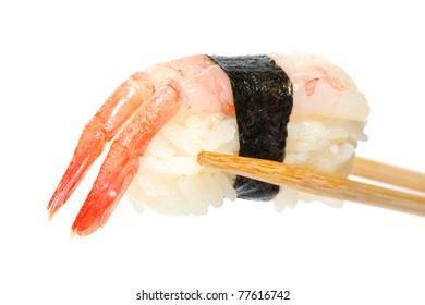 Sushi isolation on white