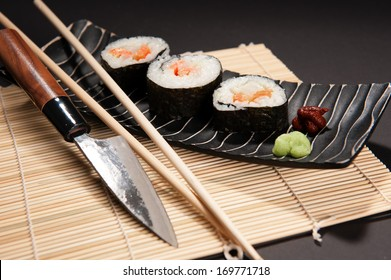 sushi with japan- cook's knife