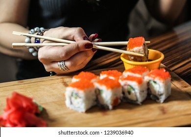 sushi Japanese dish of specially prepared vinegared rice