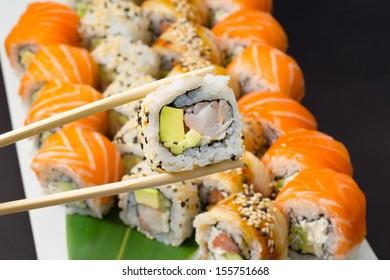 Sushi made dish