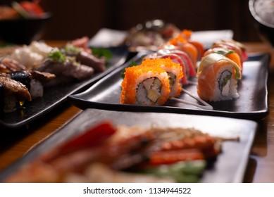 sushi maki rolls set