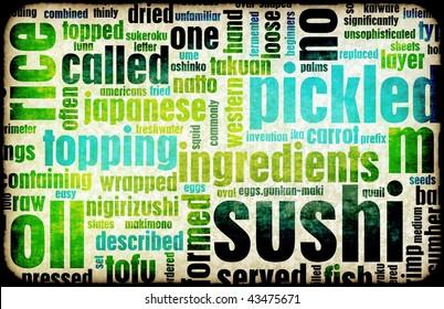 Sushi Menu Background for Japanese Food Meal