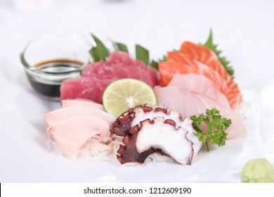 sushi menu in restaurant