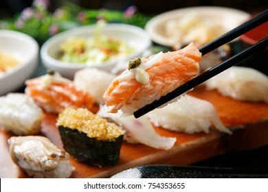 Sushi on th plate
