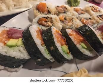 Sushi roll, restaurant in Santa Cruz, California