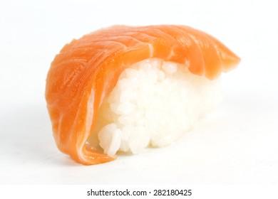 Sushi Salmon isolated on white background