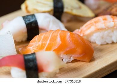 Sushi set, Japanese food