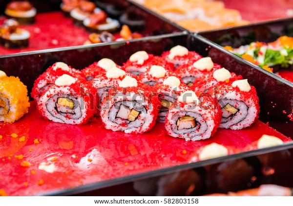 Sushi,Japanese food in Thailand market