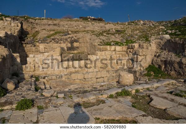 Susita (Hippos) Ruins, Sea of Galilee, the Golan Heights, Israel