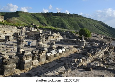 Susita Ruins, Sea of Galilee, the Golan Heights, Hippos, Israel