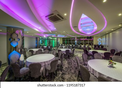 Suspended ceiling in decoration of restaurant