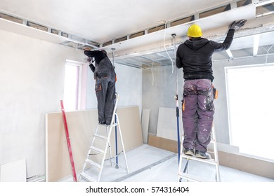Suspended Ceilings. Drywall ceiling.