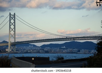 A suspension bridge (Akashikaikyo Bridge)