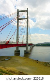 A suspension bridge in Costa Rica built by the Taiwanese to secure fishing rights on the Pacific coast.