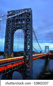 Suspension Bridge crossing from New Jersey into New York