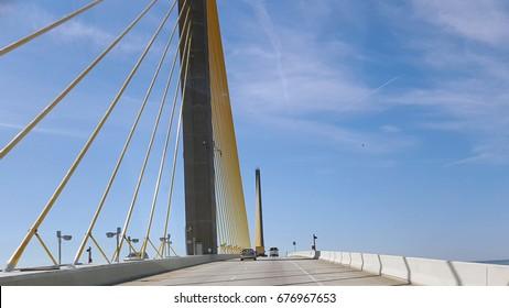 Suspension bridge highway one