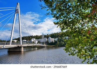Suspension Bridge in Jyvaskyla, Finland
