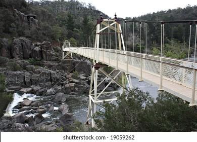 Suspension bridge in Launceston's Cataract Gorge, Tasmania