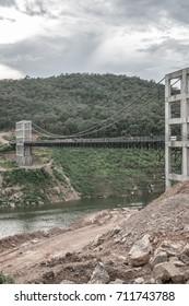 Suspension bridge at Mae Kuang Udom Thara dam, Thailand.