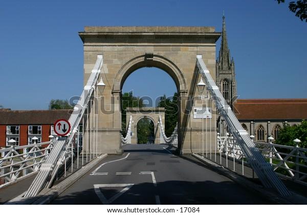 suspension bridge at Marlow