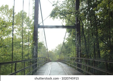 Suspension bridge near Lake of the Ozarks