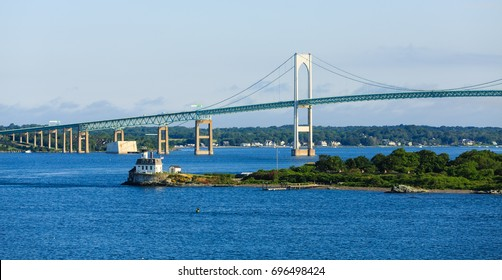 Suspension Bridge in Newport Rhode Island