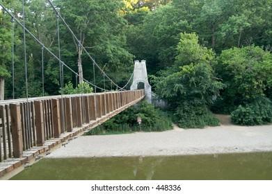 suspension bridge over creek